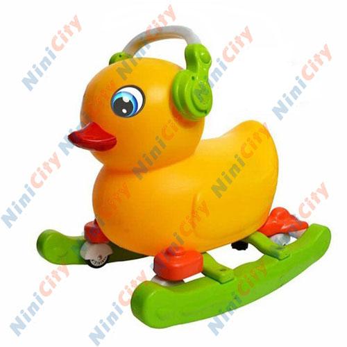واکر 2 کاره موزیکال چرخ دار مولود (بیبی لند) مدل چیکی Chicki طرح اردک