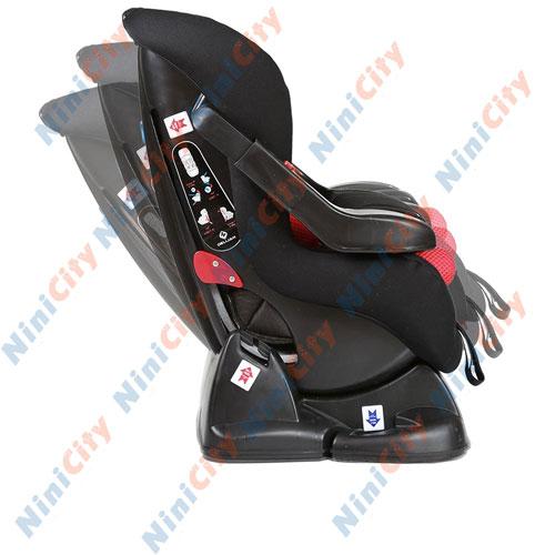 صندلی خودرو دلیجان مدل الیت پلاس نیو Elite Plus New مشکی با تشک قرمز مشکی