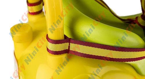 ماشین بازی سواری چهارچرخ کودک سپیده تویز مدل زرافه Giraffe زرد قرمز